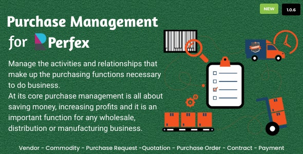 Purchase Management for Perfex CRM v1.0.6