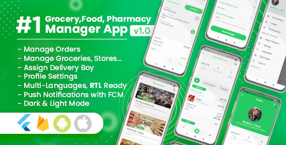 Owner / Vendor for Groceries, Foods, Pharmacies, Stores Flutter App