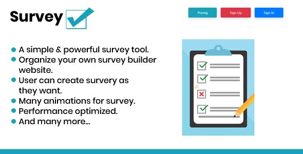 SurveyTickMark - Simple Survey Builder