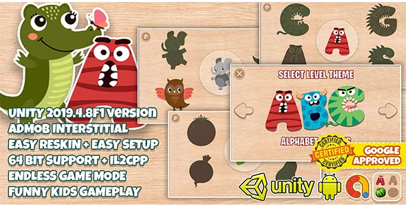 Wooden Puzzle Kids : Unity 2019 LTS + Admob Ads Ready + Easy Reskin - CodeCanyon Item for Sale