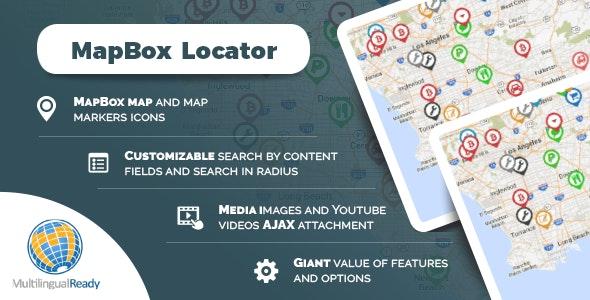 MapBox Locator plugin for WordPress - CodeCanyon Item for Sale