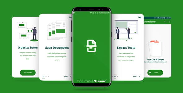 Documents Scanner App with Admob Ads (Auto edges detection)