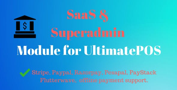 SaaS & Superadmin Module for UltimatePOS - Advance