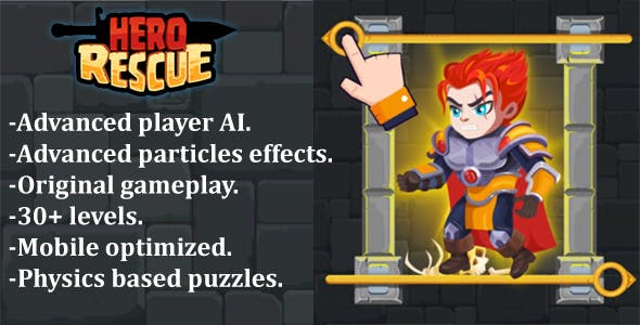 Hero Rescue - Construct 2 + Construct 3 + HTML5 (CAPX+C3P+HTML5)