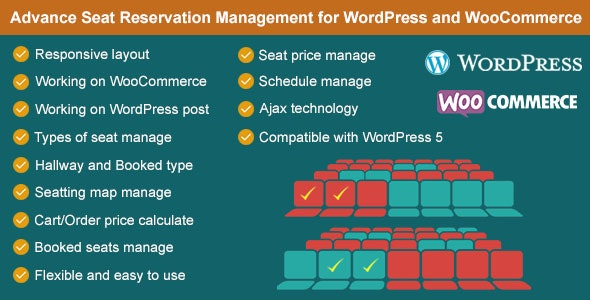 Advance Seat Reservation Management for WooCommerce - CodeCanyon Item for Sale