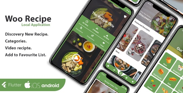 Recipe Flutter Application - ios and android - CodeCanyon Item for Sale