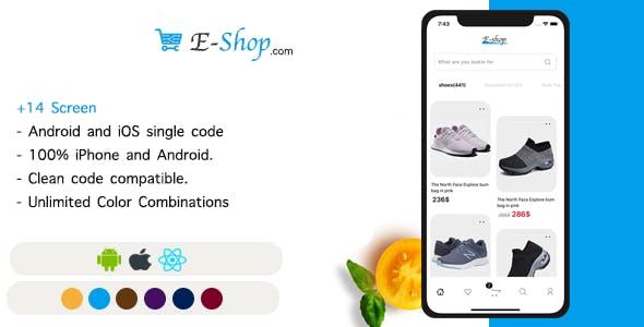 E-Shop - React Native UI E-commerce Template