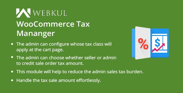 WooCommerce Marketplace Tax Manager - CodeCanyon Item for Sale