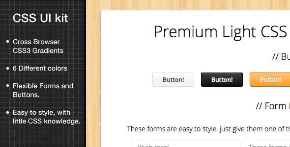 Light CSS3 UI kit