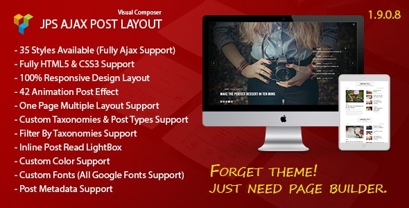 JPS Ajax Post Layout - Addon For WPBakery Page Builder (Visual Composer) - CodeCanyon Item for Sale