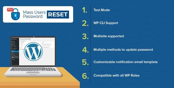 Mass Users Password Reset Pro Plugin for WordPress