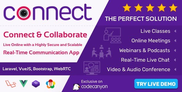 Connect - Live Chat, Live Class, Meeting, Webinar, Video & Audio Conference
