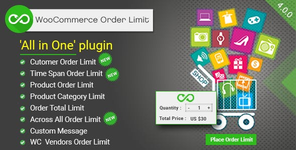 WooCommerce Order Limit - Apply Min/Max order limit on Products, Categories, Users