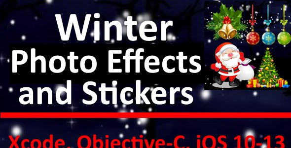 Winter Photo Effects and Stickers