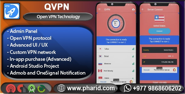 QVPN - Pro Custom VPN with Admin Panel - CodeCanyon Item for Sale