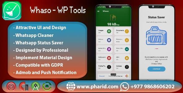 Whaso - Whatsapp Cleaner & Status Saver