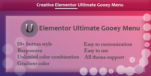 Elementor - Ultimate Gooey Menu