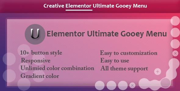 Elementor - Ultimate Gooey Menu - CodeCanyon Item for Sale