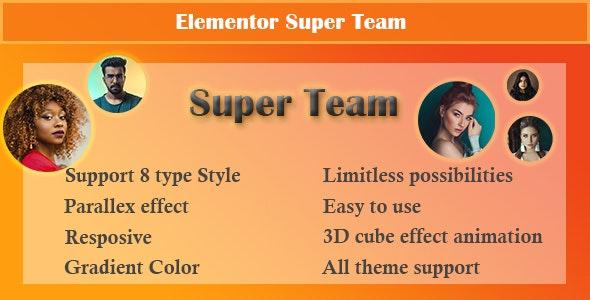 Elementor - Super Team - CodeCanyon Item for Sale