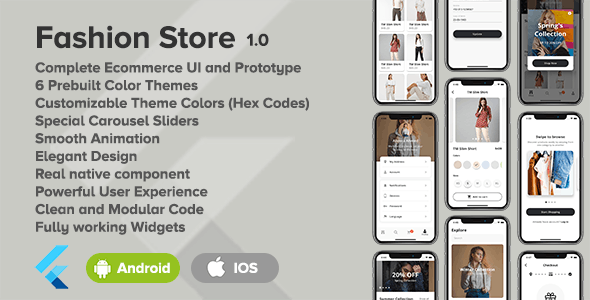 Fashion Store - Flutter Ecommerce UI - CodeCanyon Item for Sale