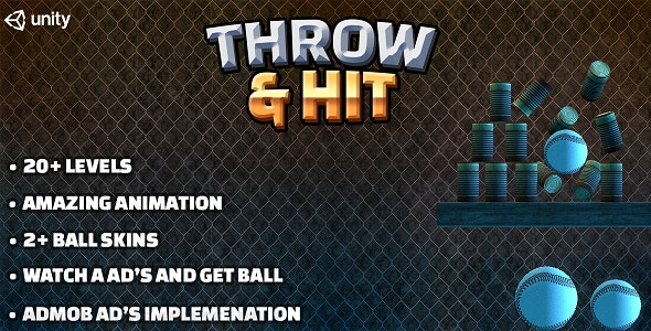 Throw & Hit : Ball & Can Game for Android with AdMob Ad Integration - CodeCanyon Item for Sale