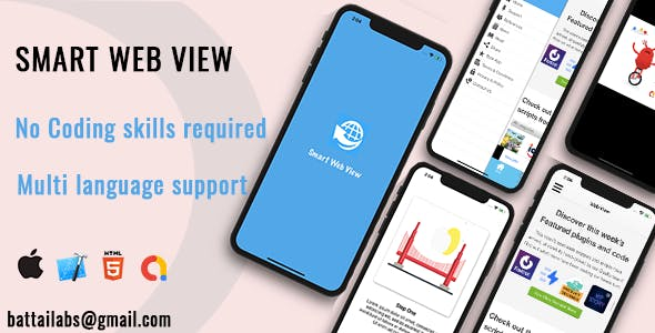 Smart Webview Convert Website to Native IOS | Admob | Onesignal