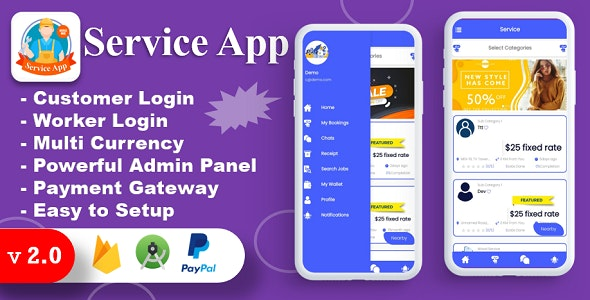 U Clab Service App | Service At Home | Payment Gateways Integrated | Multi Login - CodeCanyon Item for Sale