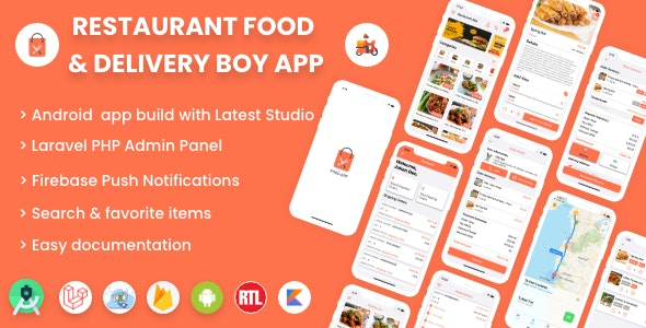 Single restaurant Android food ordering app with Delivery Boy and Admin Panel - CodeCanyon Item for Sale