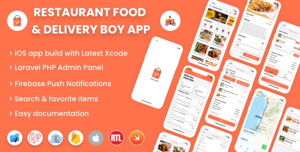 Single restaurant iOS food ordering app with Delivery Boy and Admin Panel - CodeCanyon Item for Sale