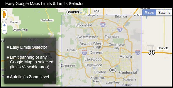 Easy Google Maps Limits & Limits Selector