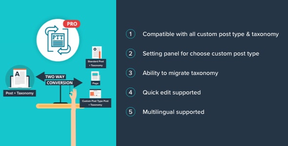 Post Type Transfer Pro - CodeCanyon Item for Sale