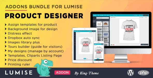 Addons Bundle for Lumise Product Designer