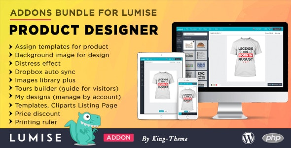 Addons Bundle for Lumise Product Designer - CodeCanyon Item for Sale