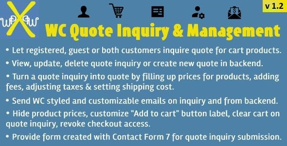 WooCommerce Quote Inquiry & Management - CodeCanyon Item for Sale