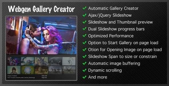 Webgen Thumbnail and Gallery Slideshow