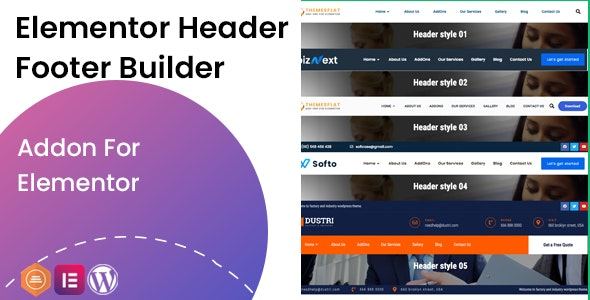 Elementor Header Footer Builder - Addon - CodeCanyon Item for Sale