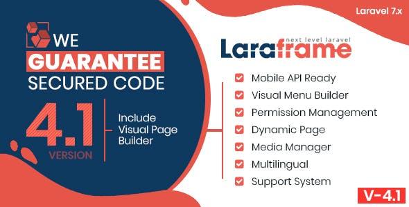Laraframe - Laravel Kickstarter 4.1