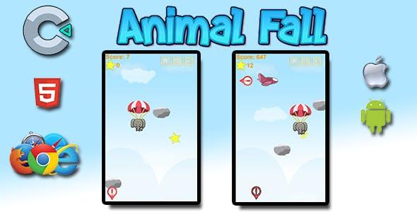 Animal Fall - HTML5 Mobile Game