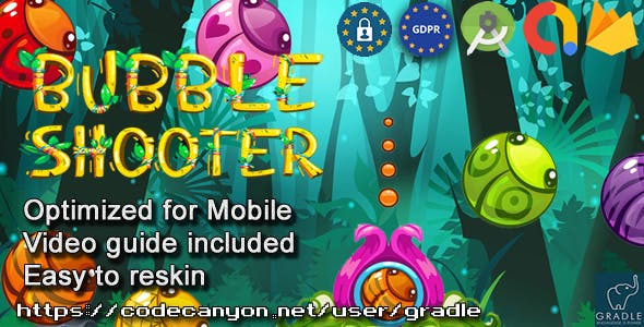 Bubble Shooter (Admob + GDPR + Android Studio)