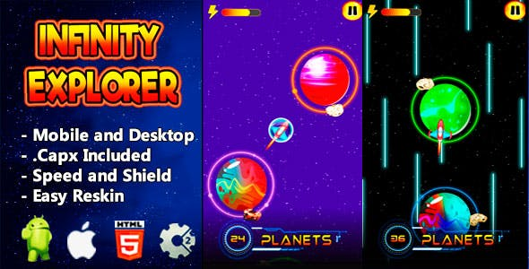 Infinity Explorer - Html5 Game and Mobile