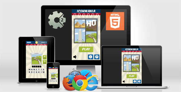 Iconmania - HTML5 Quiz Game (Construct 2)