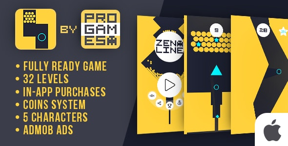 Zen Line - IOs game - Easy To Reskine - CodeCanyon Item for Sale