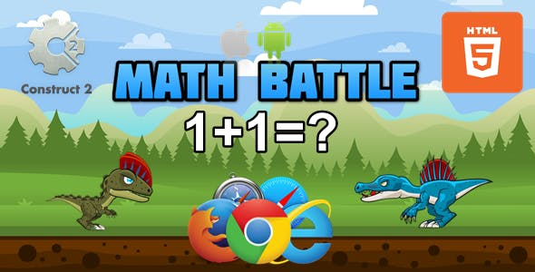 Math Battle - Educational Game HTML5 (.Capx)