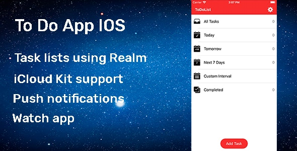 To Do App IOS - CodeCanyon Item for Sale