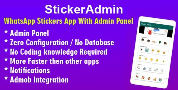 StickerAdmin : WhatsApp Stickers App with admin panel