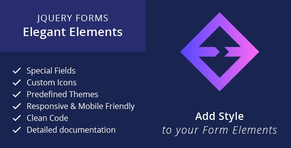 jQuery Forms - Elegant Elements - CodeCanyon Item for Sale