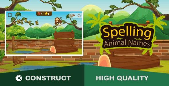 Spelling Animal Names HTML5 Game (c3p)