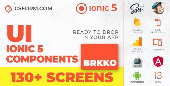 Brkko | Ionic 5 / Angular 10 UI Theme / Template App | Multipurpose Starter App