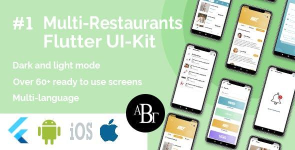 Multi-Restaurants Flutter App UI Kit
