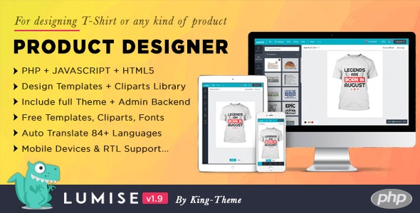 Product Designer for PHP Standalone | Lumise - CodeCanyon Item for Sale